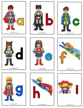 Special Education- Kindergarten- Alphabet Recognition and Match Game- Superhero