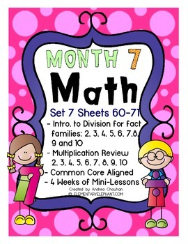 MATH Skill Sheets & Mini-Lessons MONTH 7 - Introduction to Division