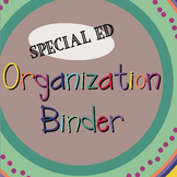 Special Ed. Binder - Warm Colors