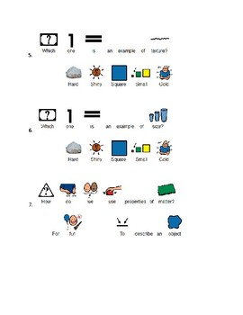Special Ed: Properties of Matter Lesson/Review/Quiz