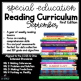 Special Ed Reading Curriculum September  Reading Comprehen