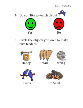 Special Ed Science! Bird Feeders