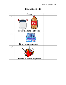 Special Ed Science! Exploding Soda *Not an actual explosion!
