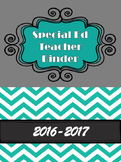 Special Ed Teacher Binder