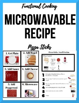 Special Ed. Visual Microwave Recipe - Pizza Sticks (Individual Portions!)