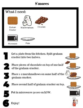 Special Ed. Visual Microwave Recipe - S'mores