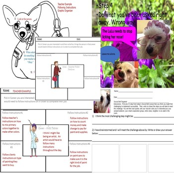 Following Instructions Social Skills Ppt Rescue Dogs' Series Worksheets SPED