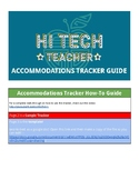 Special Education Accommodations Tracker - EDITABLE template