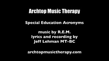 Special Education Song & Video - Special Education Acronyms