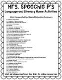 Special Education Acronyms FREEBIE