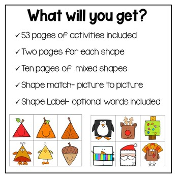 Special Education Adapted Workbook: Shapes