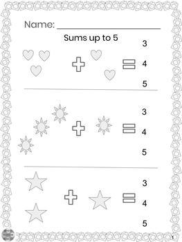 Special Education - Addition BUNDLE-Sums up to 5, 10, 15 w/Visuals-Circle Answer