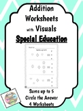 Special Education - Addition - Sums up to 5 w/Visuals - Ci