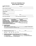 Special Education Articulation Form