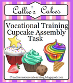 Special Education Distance Learning Work Box Task Cupcake