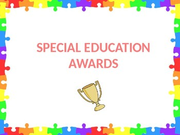 Special Education Awards