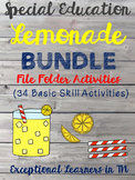 Lemonade BUNDLE Basic Skills File Folder Activities