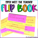 Special Education Meet the Teacher Flip Book (Editable!)