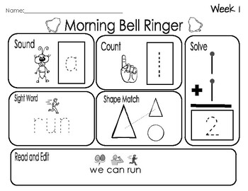 Special Education Bell Ringers SAMPLE!