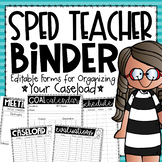 Special Education Binder with Editable Forms