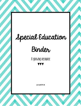 Special Education Binder
