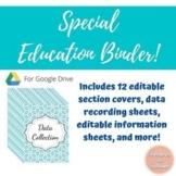Special Education Binder - Blue Floral Watercolor