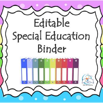 Special Education Binder {Editable} IEP Binder