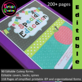 Special Education Binder IEP caseload -Apple Theme-(EDITABLE in PowerPoint)