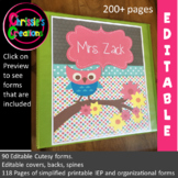 Special Education Binder IEP caseload owl (editable)