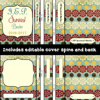 Special Education Binder IEP survival binder: Editable