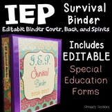 Special Education Binder IEP survival binder: Editable