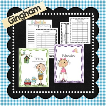 Special Education Binder in GINGHAM