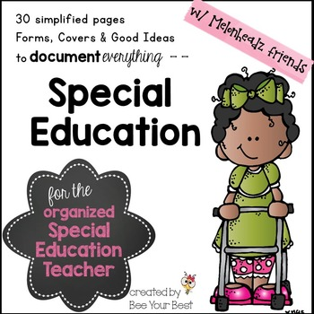 Special Education Binder with Melonheadz friends