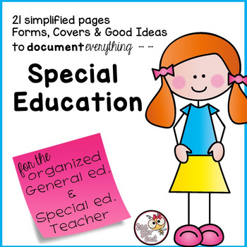 Special Education Binder with stick friends