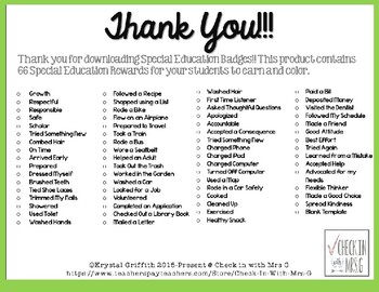 Special Education Brag Tags