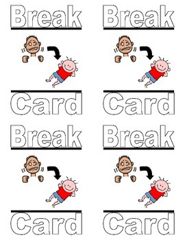 Special Education Break Cards