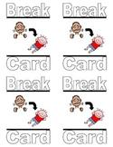 Special Education Break Cards