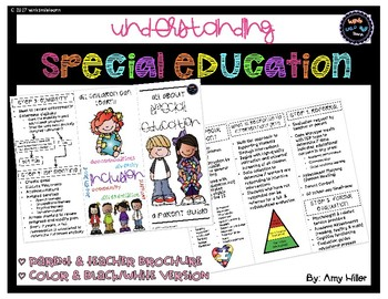 Special Education Brochure A Parent Teacher Guide By Wink Smile Learn