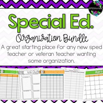Special Education Organization Bundle