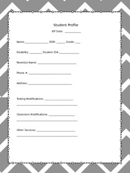 Special Education Bundle of Forms