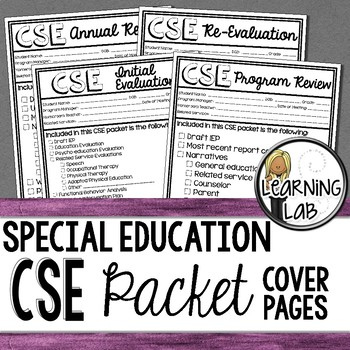 Special Education - CSE Meeting Cover Pages