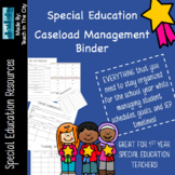 Special Education Case Management Binder: IEP, Schedules, Progress, and MORE!