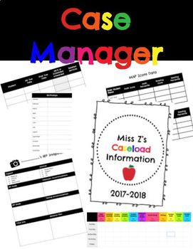 Special Education Case Manager Information (Editable!)