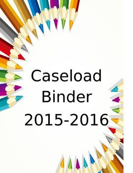 Special Education Caseload Binder-editable