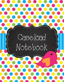 Special Education Caseload Binder Boho Birds Brights