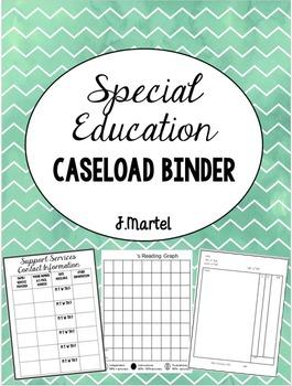Special Education Caseload Binder (Editable)