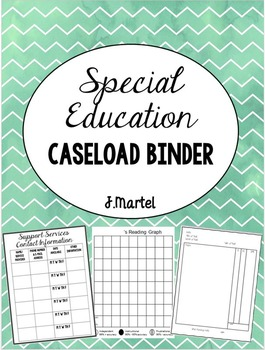 Special Education Caseload Binder (Editable)