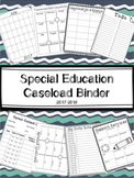 Special Education Caseload Binder for 2017-2018