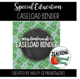 Special Education Caseload Management Binder - Organize ALL the Things!