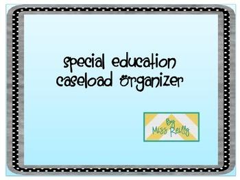 Special Education Caseload Organizer
